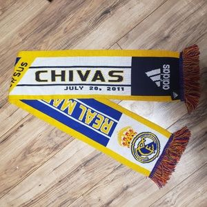 CHIVAS VS. REAL MADRID ADIDAS SCARF, SOCCER/SPORTS
